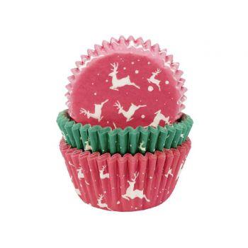 75 Caissettes à cupcakes rennes