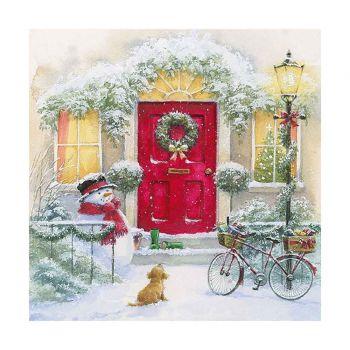 20 Serviettes Maison de Noël