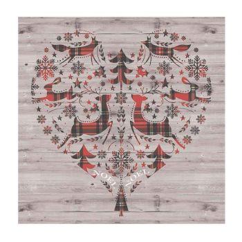 20 Serviettes forêt de Noël