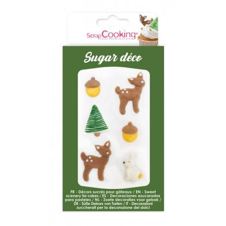 EMBELLISSEZ VOS PÂTISSERIES - Une boîte de 6 sucres décoratifs