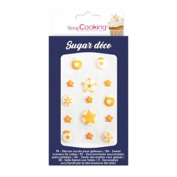 14 Décors sucre déco dorée Scrapcooking