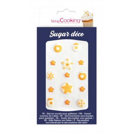 DÉCOREZ VOS PÂTISSERIES - Une boîte de 14 sucres décoratifs