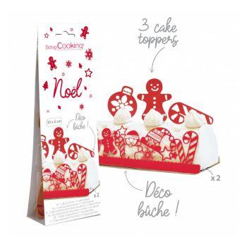 Kit déco de gâteau Noël Scrapcooking