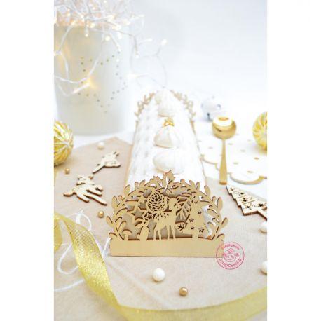 SUBLIMEZ VOS DESSERTS - Découvrez un kit de 2 embouts de bûche en bois pour agrémenter la présentation de vos bûches de Noël. Recréez la...