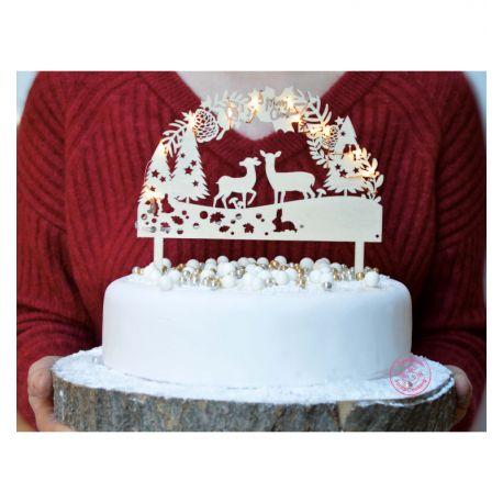 UNE DÉCORATION NATURELLE - Ce cake topper en bois donnera un parfum de nature et d'authenticité à votre dessert de fête. Une...