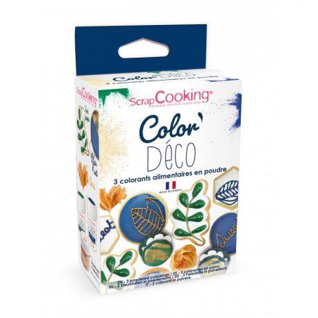 COLOREZ VOS DESSERTS - Un lot de 3 colorants alimentaires artificiels