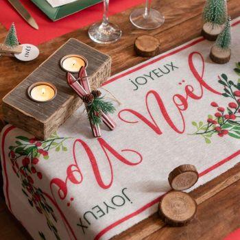 Chemin de table baies de Noël