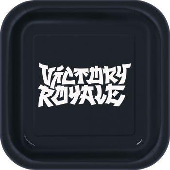8 assiettes carrée Fortnite