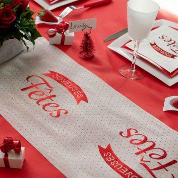 Chemin de table Joyeuses Fêtes