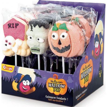 Sucette de marshmallow à l'effigie de personnage d'Halloween idéal pour donner aux enfants lors de leur récolteAttention vendu à...