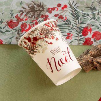10 Gobelets Guirlande de Noël rouge et vert
