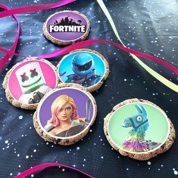 12 Mini disques en sucre Fortnite