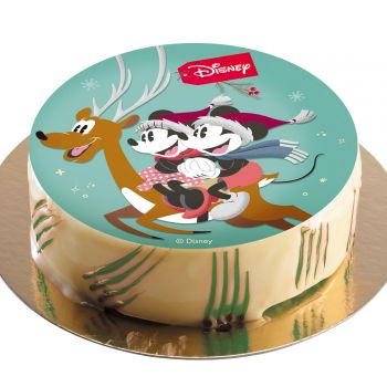 Disque azyme Mickey Noël 20 cm
