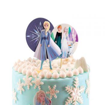Kit décor gâteau La Reine des Neiges