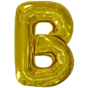 Mega Ballon Hélium lettre B or
