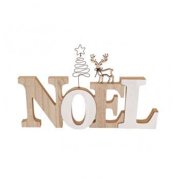 Noël en bois décor cerf