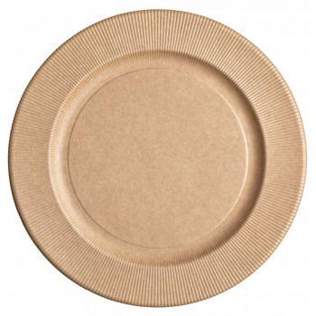 8 Grandes assiettes kraft compostatble 27cm
