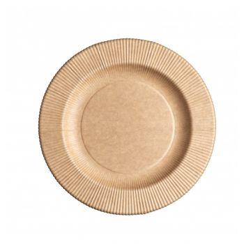 8 assiettes kraft compostatble 21cm