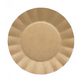 8 assiettes corolle kraft compostatble 21cm