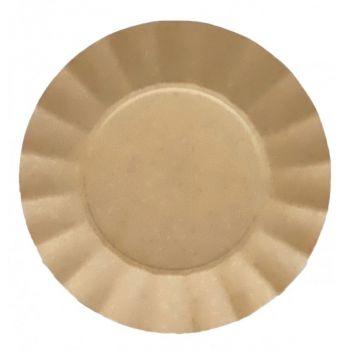 8 grandes assiettes corolle kraft compostatble 24.5cm