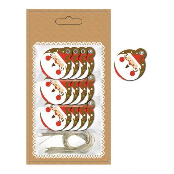12 étiquettes Père Noël