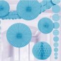 Décoration bleu clair