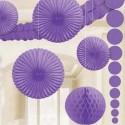 Décoration violette
