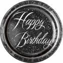 Happy Birthday glitz black silver
