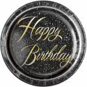 Happy Birthday glitz black gold
