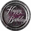 Happy Birthday glitz black pink