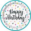 Happy Birthday Confettis Fanions