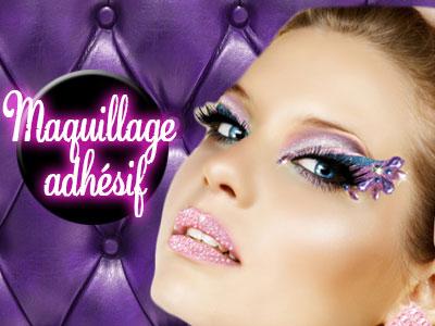 Maquillage adhesif