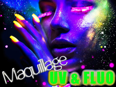 Maquillage UV et fluo
