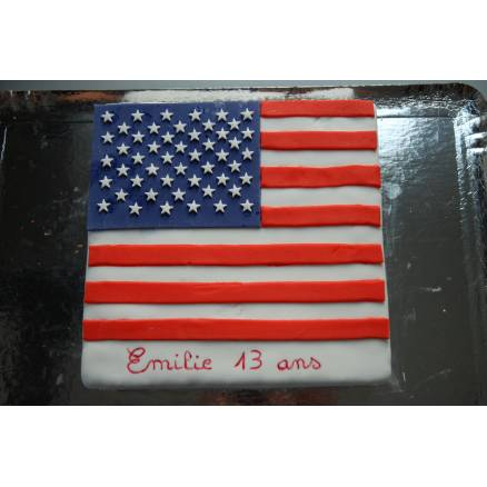 Gâteau Drapeau Américain
