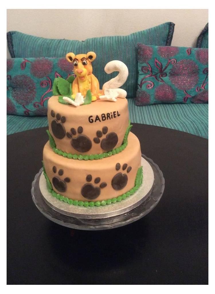 Gâteau Roi Lion , Thema Deco