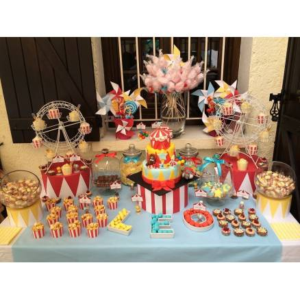 Candy bar cirque thema deco - Decoration theme cirque ...