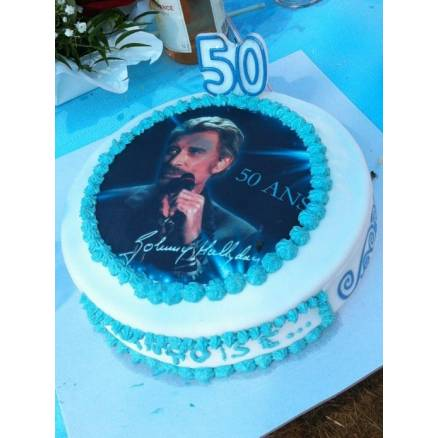 Gâteau Johnny halliday