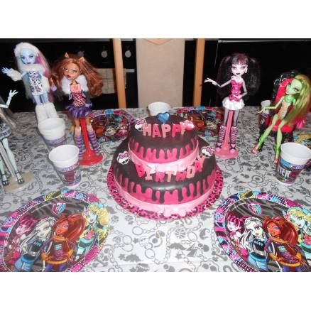 Anniversaire monster high thema deco - Decoration anniversaire monster high ...