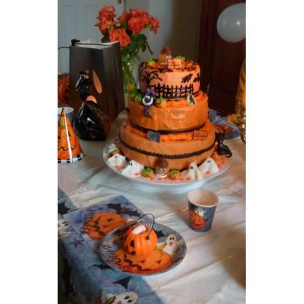 G teau d 39 halloween triple tages thema deco - Deco gateau halloween ...