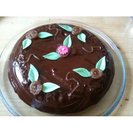 G teau au chocolat et la cr me de marron thema deco - Gateau chocolat creme de marron ...