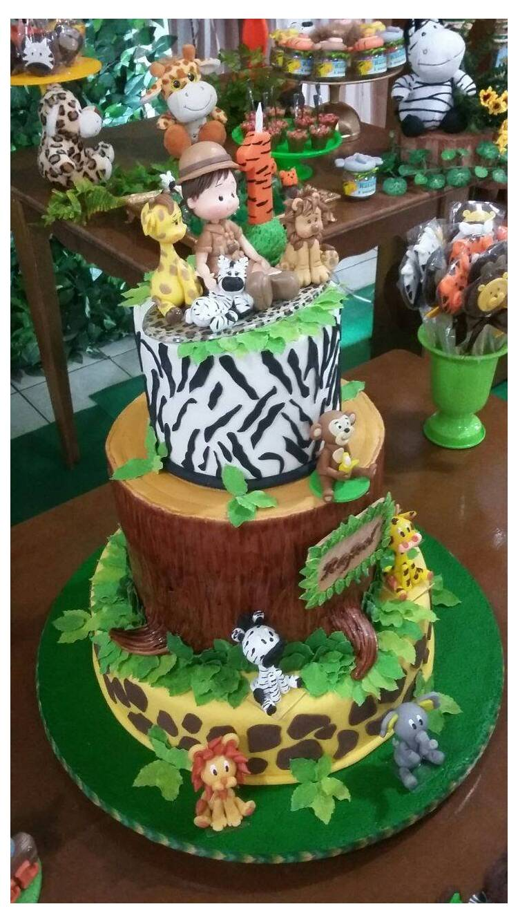 Gâteau de fête Safari Jungle